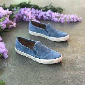 FRYE Camille Slip on aqua Sneakers Size 8.5